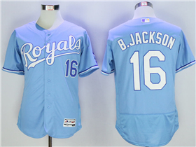 Kansas City Royals #16 Bo Jackson Light Blue Flex Base Jersey