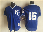 Kansas City Royals #16 Bo Jackson Throwback Royal 1989 Cooperstown Batting Mesh Practice Jersey