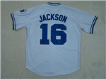 Kansas City Royals #16 Bo Jackson Throwback White Jersey