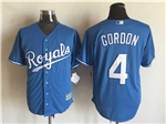Kansas City Royals #4 Alex Gordon Light Blue Cool Base Jersey
