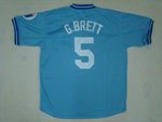 Kansas City Royals #5 George Brett Throwback Light Blue Jersey