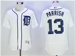 Detroit Tigers #13 Lance Parrish White Flex Base Team Jersey