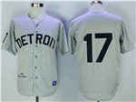 Detroit Tigers #17 Denny McLain 1968 Throwback Gray Jersey
