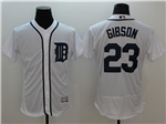 Detroit Tigers #23 Kirk Gibson White Flex Base Team Jersey