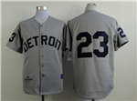 Detroit Tigers #23 Kirk Gibson 1968 Throwback Gray Jersey