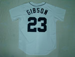 Detroit Tigers #23 Kirx Gibson 1984 Throwback White Jersey