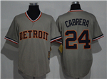 Detroit Tigers #24 Miguel Cabrera Gray Cooperstown Cool Base Jersey