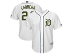 Detroit Tigers #24 Miguel Cabrera White 2018 Memorial Day Cool Base Jersey