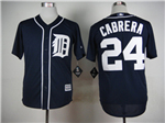 Detroit Tigers #24 Miguel Cabrera Navy Cool Base Jersey
