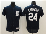 Detroit Tigers #24 Miguel Cabrera Navy Flex Base Jersey