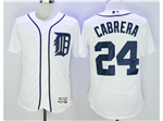 Detroit Tigers #24 Miguel Cabrera White Flex Base Jersey