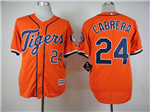 Detroit Tigers #24 Miguel Cabrera Orange Cool Base Jersey