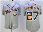 Detroit Tigers #27 Jordan Zimmermann Gray Flex Base Jersey
