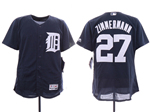 Detroit Tigers #27 Jordan Zimmermann Navy Flex Base Team Jersey