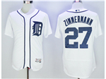 Detroit Tigers #27 Jordan Zimmermann White Flex Base Jersey