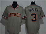 Detroit Tigers #3 Ian Kinsler Gray Cooperstown Cool Base Jersey