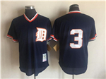 Detroit Tigers #3 Alan Trammell 1984 Navy Cooperstown Mesh Batting Practice Jersey