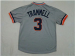 Detroit Tigers #3 Alan Trammell 1984 Throwback Gray Jersey