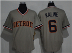 Detroit Tigers #6 Al Kaline Gray Cooperstown Cool Base Jersey