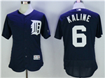 Detroit Tigers #6 Al Kaline Navy Flex Base Team Jersey