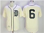 Detroit Tigers #6 Al Kaline 1968 Throwback Cream Jersey