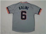 Detroit Tigers #6 Al Kaline 1984 Throwback Gray Jersey