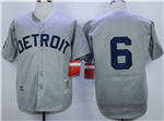 Detroit Tigers #6 Al Kaline 1968 Throwback Gray Jersey