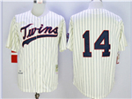 Minnesota Twins #14 Kent Hrbek 1969 Throwback Cream Pinstripe Jersey