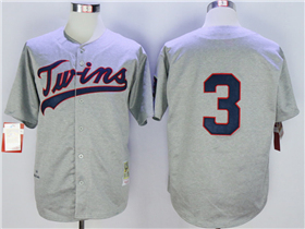 Minnesota Twins #3 Harmon Killebrew 1969 Throwback Grey Jersey