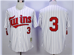 Minnesota Twins #3 Harmon Killebrew 1991 Throwback White Pinstripe Jersey