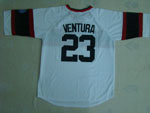 Chicago White Sox #23 Robin Ventura 1983 Throwback White Jersey