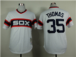 Chicago White Sox #35 Frank Thomas 1983 Throwback White Jersey