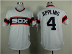 Chicago White Sox #4 Luke Appling 1983 Throwback White Jersey