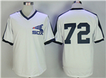 Chicago White Sox #72 Carlton Fisk White Cooperstown Mesh Batting Practice Jersey