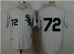Chicago White Sox #72 Carlton Fisk 1993 Throwback White Pinstripe Jersey