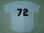 Chicago White Sox #72 Carlton Fisk 1990 Throwback White Jersey
