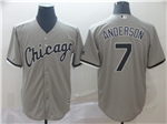 Chicago White Sox #7 Tim Anderson Grey Cool Base Jersey