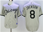 Chicago White Sox #8 Bo Jackson Throwback Gray Jersey