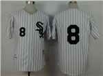 Chicago White Sox #8 Bo Jackson 1993 Throwback White Pinstripe Jersey
