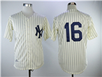 New York Yankees #16 Whitey Ford 1961 Cream Throwback Jersey