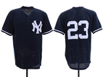 New York Yankees #23 Don Mattingly Navy Cooperstown Collection Mesh Batting Practice Jersey