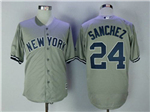 New York Yankees #24 Gary Sanchez Road Gray Cool Base Jersey