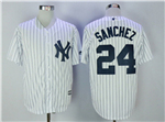 New York Yankees #24 Gary Sanchez Home White Cool Base Jersey