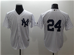 New York Yankees #24 Gary Sanchez White without Name Cool Base Jersey