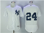 New York Yankees #24 Gary Sanchez Home White Flex Base Jersey