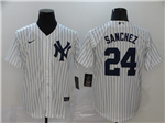 New York Yankees #24 Gary Sanchez White 2020 Cool Base Jersey