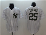 New York Yankees #25 Gleyber Torres White 2018 Memorial Day Cool Base Jersey