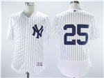 New York Yankees #25 Gleyber Torres Home White Flex Base Jersey