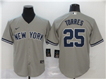 New York Yankees #25 Gleyber Torres Gary 2020 Cool Base Jersey