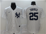 New York Yankees #25 Gleyber Torres White 2020 Cool Base Jersey